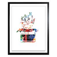 Stampa incorniciata Words 40x50 cm