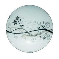 Plafoniera Lotus bianco, in vetro40 cm, diam. 40 cm, E27 2xMAX60W IP20 LUMICOM
