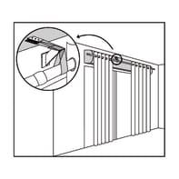 Supporto singolo chiuso Ø25mm in acciaio trasparente opaco6 cm