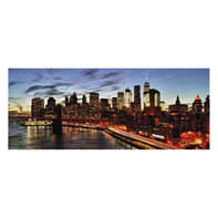 Quadro in vetro New York 125x50 cm