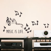 Sticker Music 15.5x34 cm