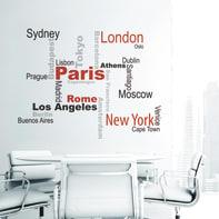 Sticker Cities 9x106 cm
