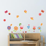 Sticker Birds and flowers 47.5x70 cm