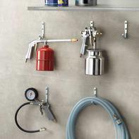 Gancio per garage singolo L 4.5 x H 9.5 cm acciaio zincato