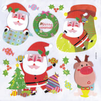 Sticker Santa Claus 3levels 31x36 cm