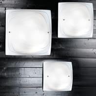 Plafoniera classico Lynn bianco, in vetro, 40x40 cm, 2  luci