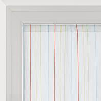 Tendina vetro Irene bianco tunnel 45 x 150 cm