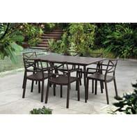 Tavolo da giardino rettangolare con piano in resina x P 146 cm