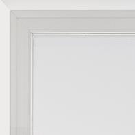 Tendina vetro Leo bianco tunnel 45x120 cm
