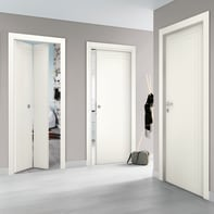 Porta a battente Angles bianco L 80 x H 210 cm reversibile