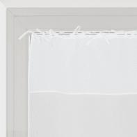 Tendina vetro Nouettes bianco lacci 60 x 120 cm