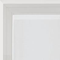 Tendina vetro Penelope bianco tunnel 60 x 240 cm