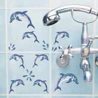 Sticker Dolphins mosaic 15x31 cm