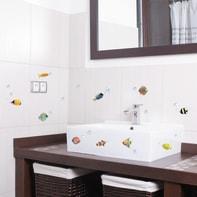 Sticker Sticker Creative Colourful fishes 15x31 cm