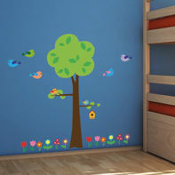 Sticker Tree with flowers 47.5x70 cm