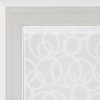 Tendina vetro Roundy bianco tunnel 60 x 240 cm