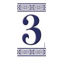 Numero Greca 3 , 7.5 x 15 cm