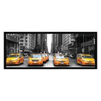 Stampa incorniciata Taxi Gialli 20x50 cm