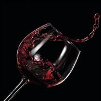 Quadro in vetro Wine Glass 20x20 cm