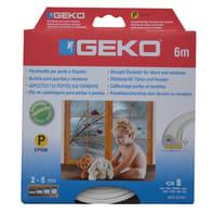 Guarnizione isolante per porte e finestre adesivo Geko bianco
