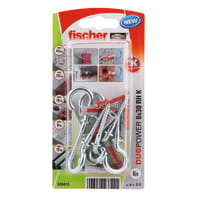 Tassello FISCHER Duopower 6, L 30 mm, Ø 6 mm, 6 pezzi