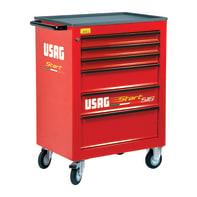 Carrello per officina USAG in metallo 6 cassetti , L 74.8 x P 51.5 x H 97 cm