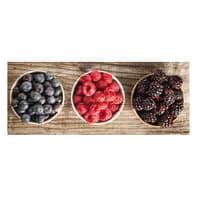 Quadro in legno Frutti Di Bosco 20x50 cm