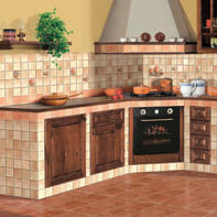 Piastrella per rivestimenti Country 10 x 10 cm sp. 8.5 mm beige