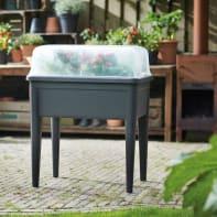 Fioriera per orto alta in plastica green basics grow house xxl ELHO trasparente L 74.8 x P 35.5 x H 20.3 cm