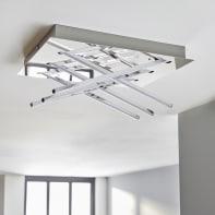 Plafoniera moderno Otok LED integrato bianco, in metallo, 35.0x27.0 cm, 6  luci INSPIRE