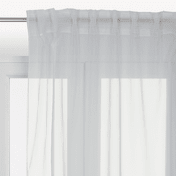 Tenda INSPIRE Lolly bianco fettuccia e passanti 140 x 280 cm