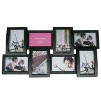 Cornice Easy Plastik per 8 fotografie 10 x 15 cm nero