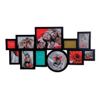 Cornice Round & Sqaure per 11 fotografie 10 x 15 nero