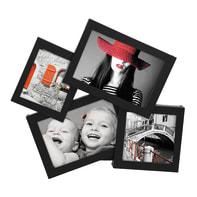 Cornice Storty per 4 fotografie 10 x 15 cm, 10 x 10 cm, 8 x 10 cm nero