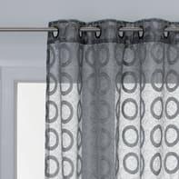 Tenda Aranea grigio occhielli 140 x 275 cm