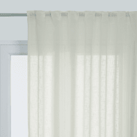Tenda Manuela bianco fettuccia con passanti nascosti 210 x 290 cm