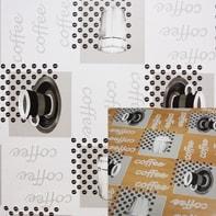 Tovaglia INSPIRE Cristallo caffè bianco e nero 140x220 cm