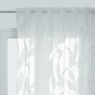 Tenda Carola beige fettuccia e passanti 140 x 290 cm