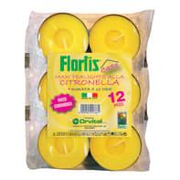 Candela anti-zanzara al profumo di citronella confezione da 12 pezzi