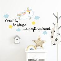 Sticker Sticker Words Up M Unicorni 31x31 cm