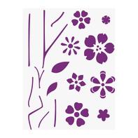 Stencil tema frutti e fiori LES DECORATIVES Componibile  38 x 0.1 cm