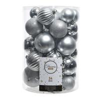 Sfera natalizia in plastica confezione da 34 pezzi