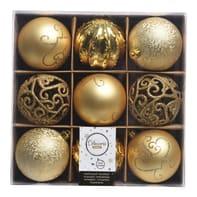 Sfera natalizia in plastica Ø 8 cm confezione da 9 pezzi