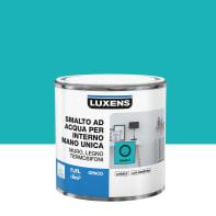 Smalto LUXENS base acqua blu miami 3 opaco 0.5 L