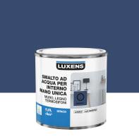 Vernice di finitura LUXENS Manounica base acqua blu zaffiro 1 opaco 0.5 L