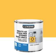 Vernice di finitura LUXENS Manounica base acqua giallo banana 3 opaco 0.5 L