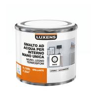 Smalto LUXENS Manounica base acqua bianco lucido 0,125 L