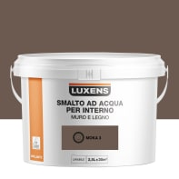 Vernice di finitura LUXENS Bimano base acqua marrone moka 3 lucido 2.5 L
