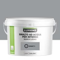 Smalto LUXENS base acqua grigio granito 3 satinato 2.5 L