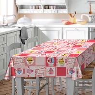 Tovaglia Cupcake multicolore 180x180 cm